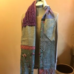 Upcycled Long Scarf
